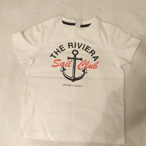Janie and Jack nautical sailor shirt sz 4 *new*